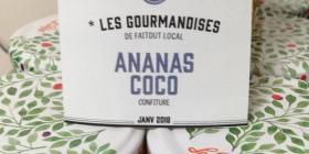Confiture ananas coco
